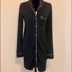Victoria Secret sleep shirt. Black. Size Small